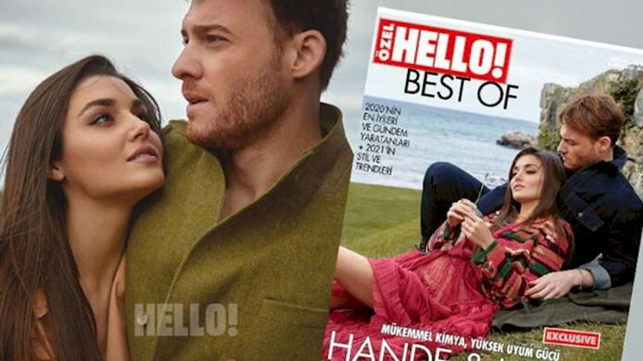 Sevilen dizi çifti Hande Erçel ve Kerem Bürsin Best Of HELLO! Kapağında