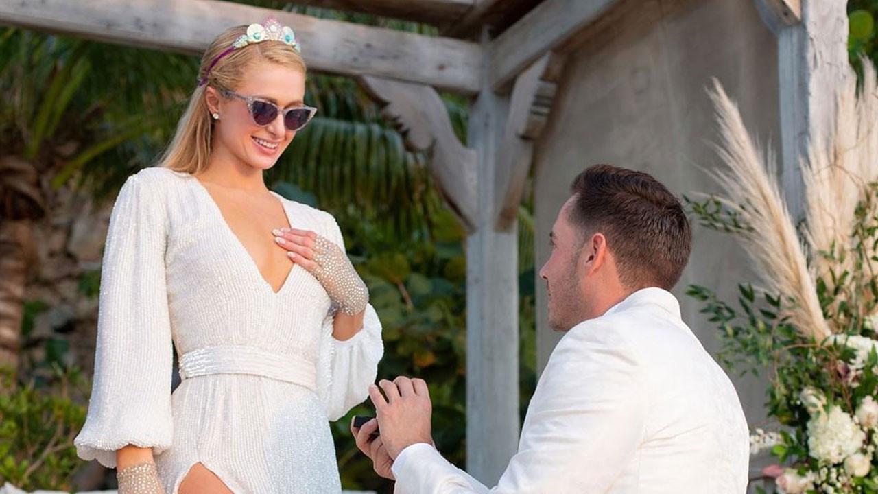Paris Hilton'a doğum gününde diz çöküp böyle evlenme teklifi etti