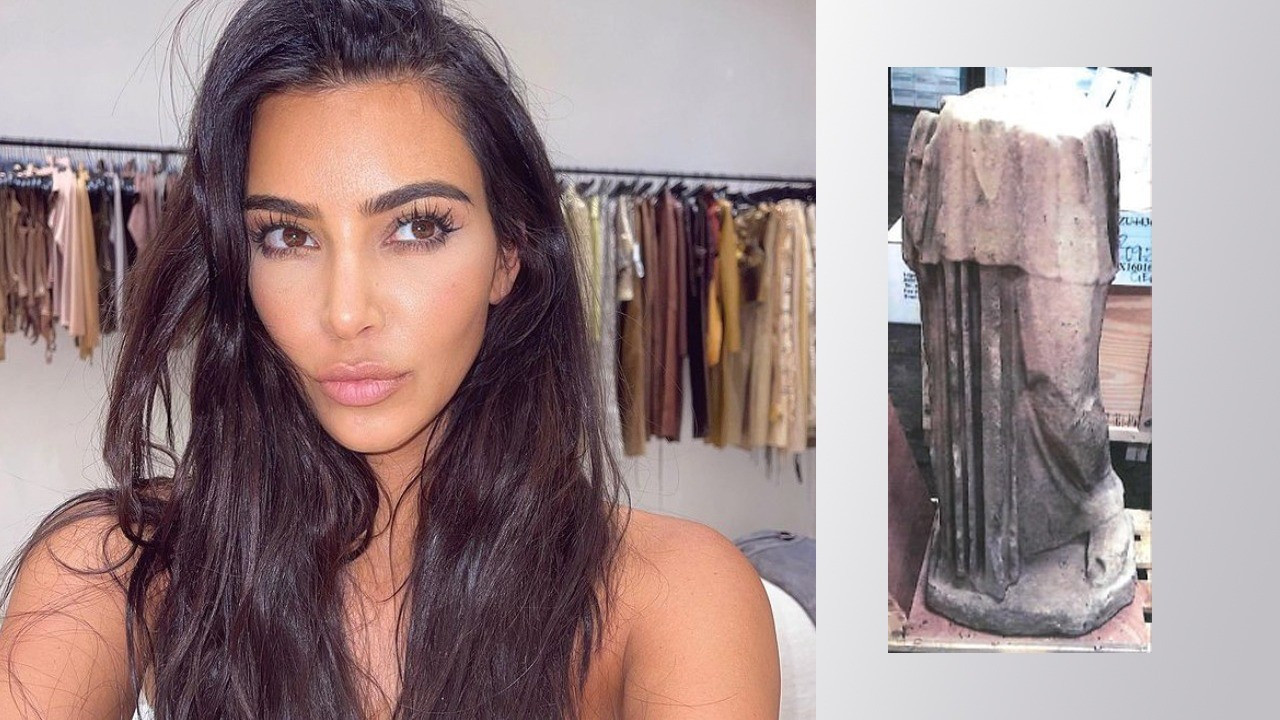 Kim Kardashian, Antik Roma döneminden bir heykeli mi kaçırdı?
