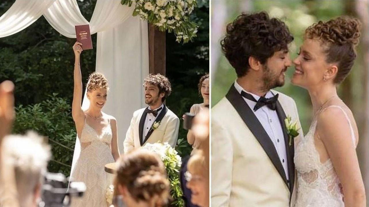 Taner Ölmez ile Ece Çeşmioğlu evlendi! İşte ilk görüntüler...