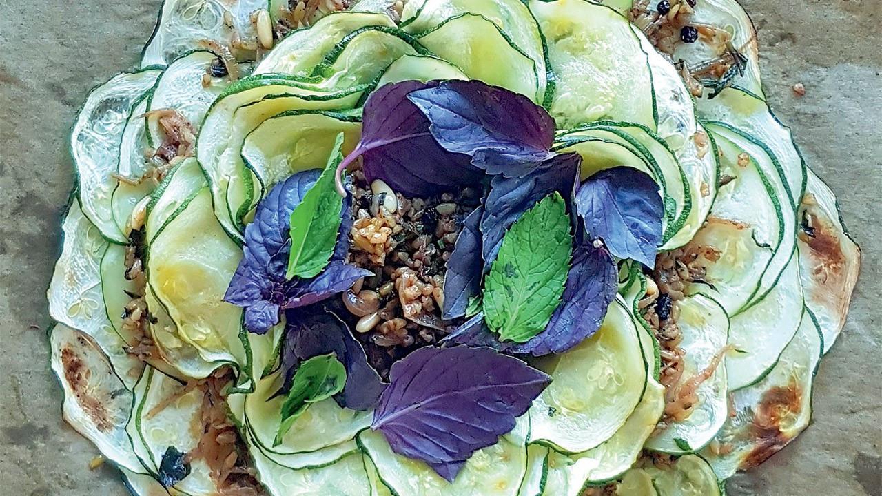 Girit kabak & karamelize soğanlı firik bulguru nasıl yapılır?