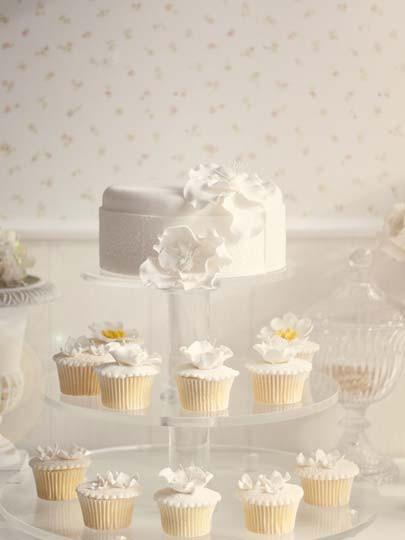 Düğüne özel cupcake'ler