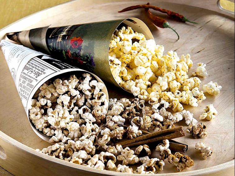 Tarçınlı ve biberli popcorn