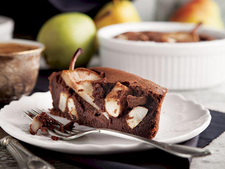 Çikolatalı armutlu kek